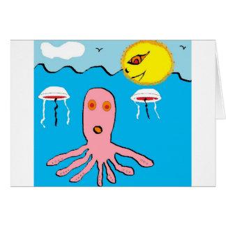 octapus tarjeta de felicitación
