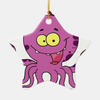Octava el pulpo adorno navideño de cerámica en forma de estrella