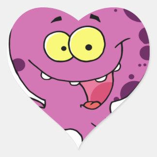 Octava el pulpo pegatina en forma de corazón