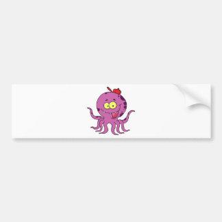 Octave the Octopus Car Bumper Sticker