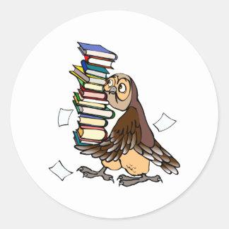 Octavian Owl Classic Round Sticker