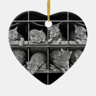Octeto de los gatos ornamento de reyes magos