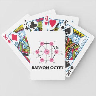 Octeto del Baryon (la física de partícula) Baraja De Cartas