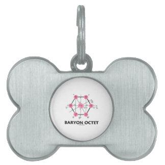 Octeto del Baryon (la física de partícula) Placa Mascota