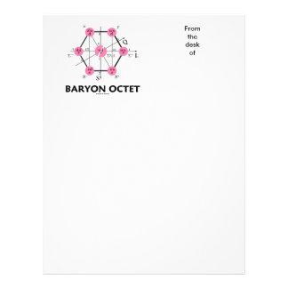 Octeto del Baryon (la física de partícula) Plantillas De Membrete