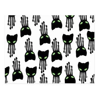 Octo-cat-octopus-cat-black-tenticles-pattern Postcard