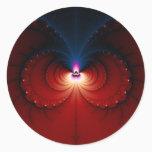 Octo - Fractal Classic Round Sticker