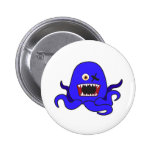 Octo-Monster in blue Buttons