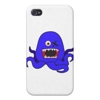 Octo-Monster in blue iPhone 4/4S Covers