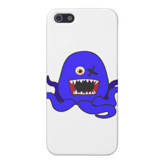 Octo-Monster in blue Cover For iPhone 5