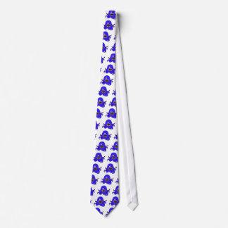 Octo-Monster in blue Neck Tie