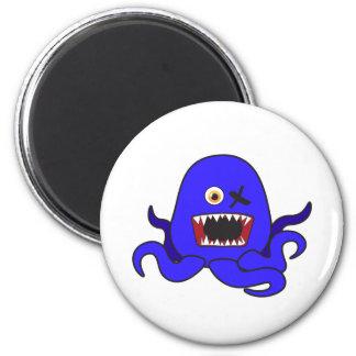 Octo-Monstruo en azul Imán Redondo 5 Cm