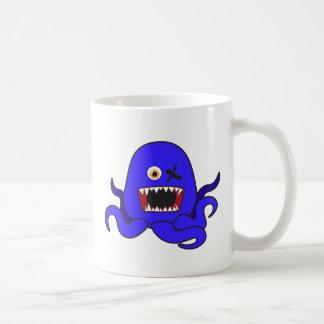 Octo-Monstruo en azul Taza