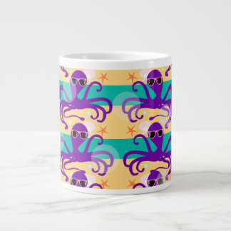 Octo Party Octopus Pattern Giant Coffee Mug