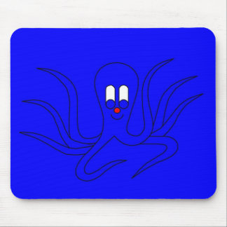 Octo-Pus the Cuttlefish - in a blue hiding place Mouse Pad