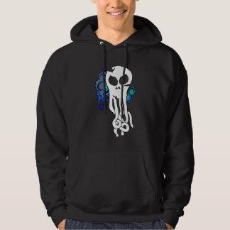 Octo skull blue copy hoodie