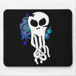 Octo skull blue mouse pad