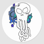 Octo skull blue stickers