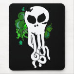 Octo skull green mouse pad