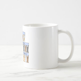 October 11th Birthdays celebrated by Cats. Classic White Coffee Mug