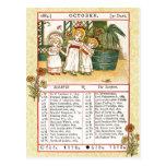October 1884 Almanac.  Scorpio, The Scorpion Post Cards
