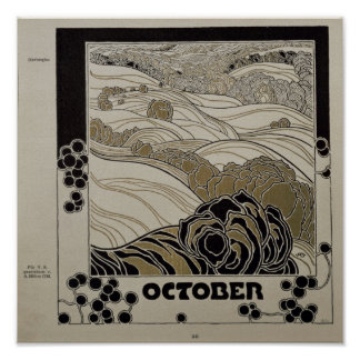 October, 1901 poster