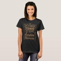 October 1989 31 Years Sunshine Hurricane T-Shirt