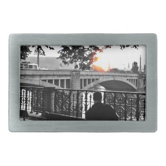 October afternoon by the Vltava Rectangular Belt Buckles