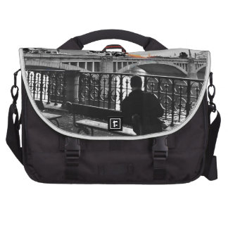 October afternoon by the Vltava Laptop Messenger Bag