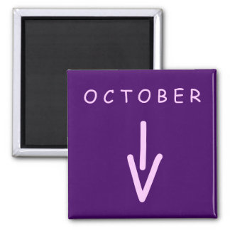 October Arrow Square Purple Magnet by Janz