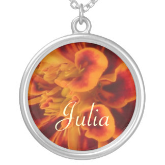 OCTOBER Birth Flower Necklace - Marigold