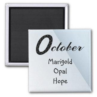 October Birthday Magnet
