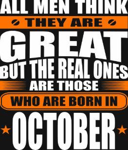 October Birthday T Shirt