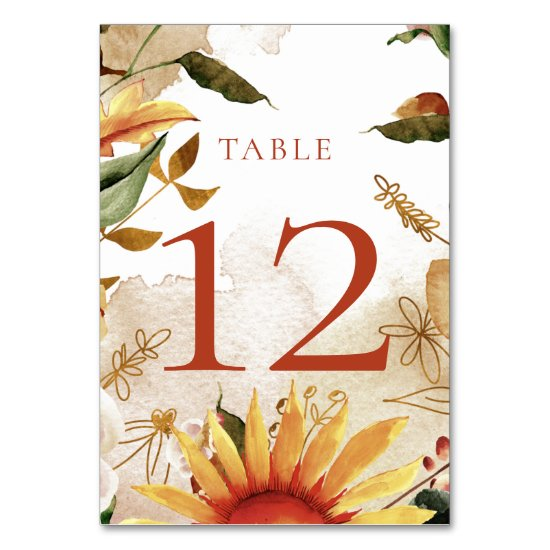 October Blooms Table Cards