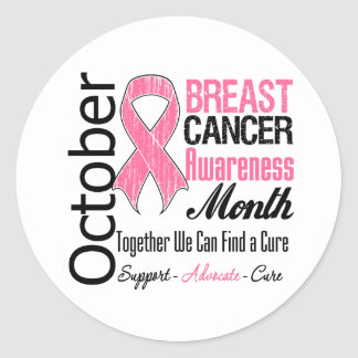 October - Breast Cancer Awareness Month Classic Round Sticker