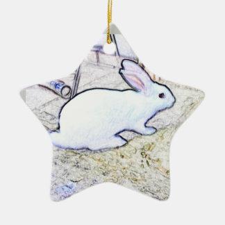 October Bunny Christmas Tree Ornament