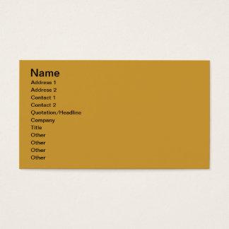 October Business Card