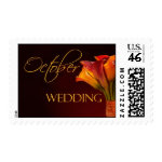 October Calla Lily Wedding Postage stamp