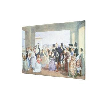 October Celebration in Rome, 1842 Canvas Print
