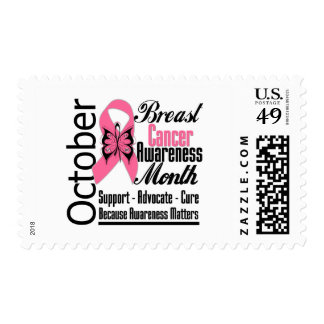 October Commemorate Breast Cancer Awareness Month Postage