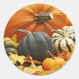 October Decoration Round Stickers