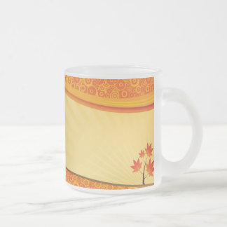 October delight frosted glass coffee mug