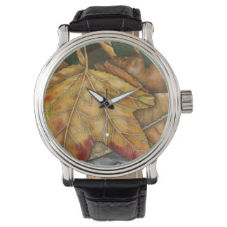 October Fall Leaves Watch