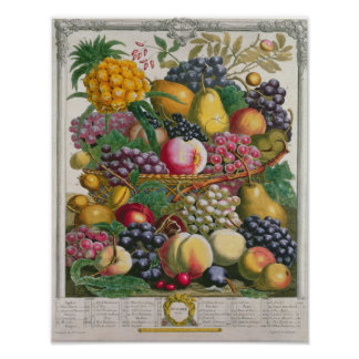 October, from 'Twelve Months of Fruits' Poster