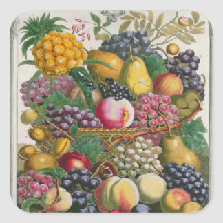 October, from 'Twelve Months of Fruits' Square Sticker