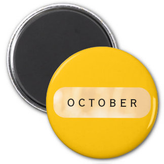October Gold Round Magnet by Janz