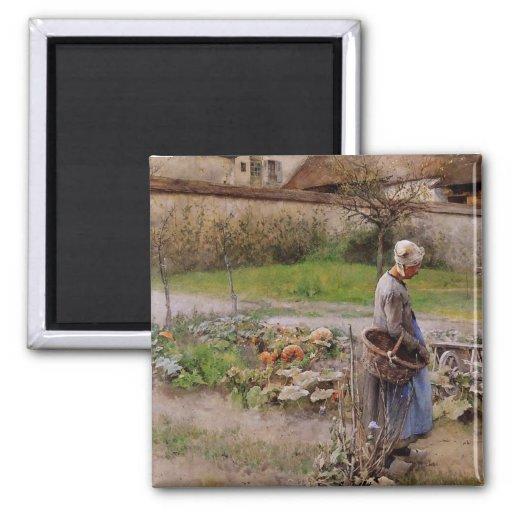 October Harvester 2 Inch Square Magnet
