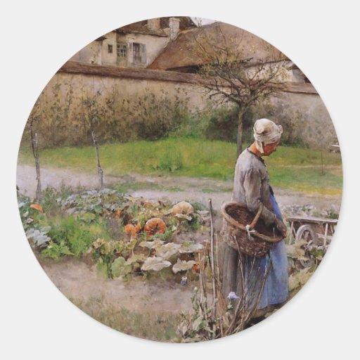 October Harvester Classic Round Sticker