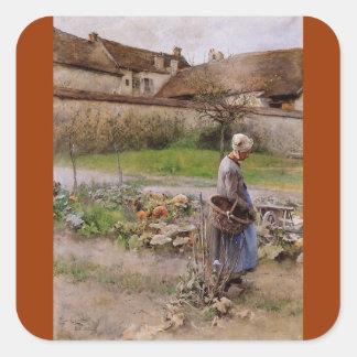 October Harvester Square Sticker
