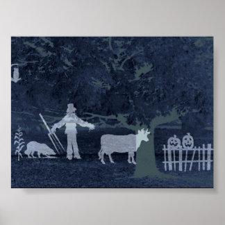 """""""October Herd""""~Original Abstract Poster"""